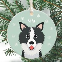 Dog Personalised Christmas Tree Decoration - Choice of Breed - Cute Holiday Xmas Bauble or Gift for a Pet Lover